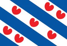 Flag of Friesland of Netherlands