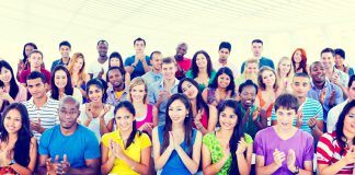 Diversity Casual Team Cheerful Community Concept