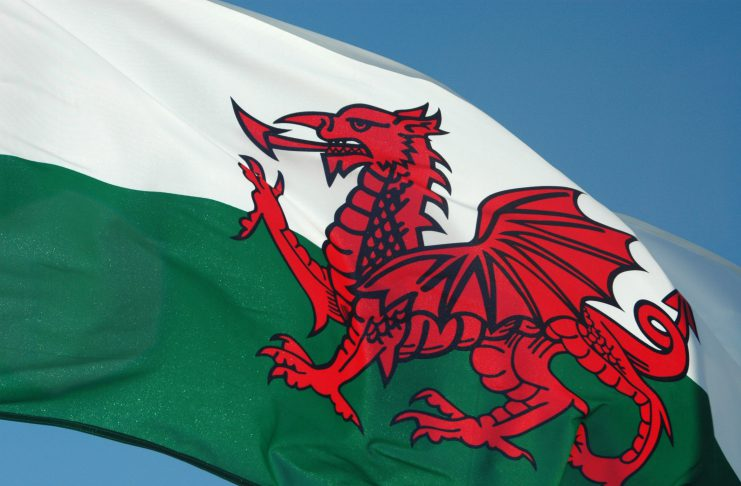 Flying Wales Flag