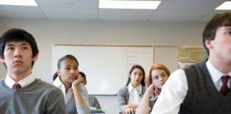 Pupils (14-18) in school classroom