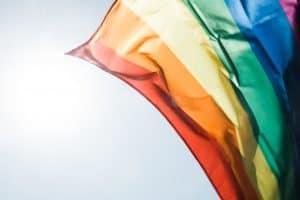 rainbow flag lgbt waving