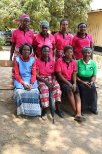 The St John, Zambia volunteers from Kayosha before the advent of social distancing